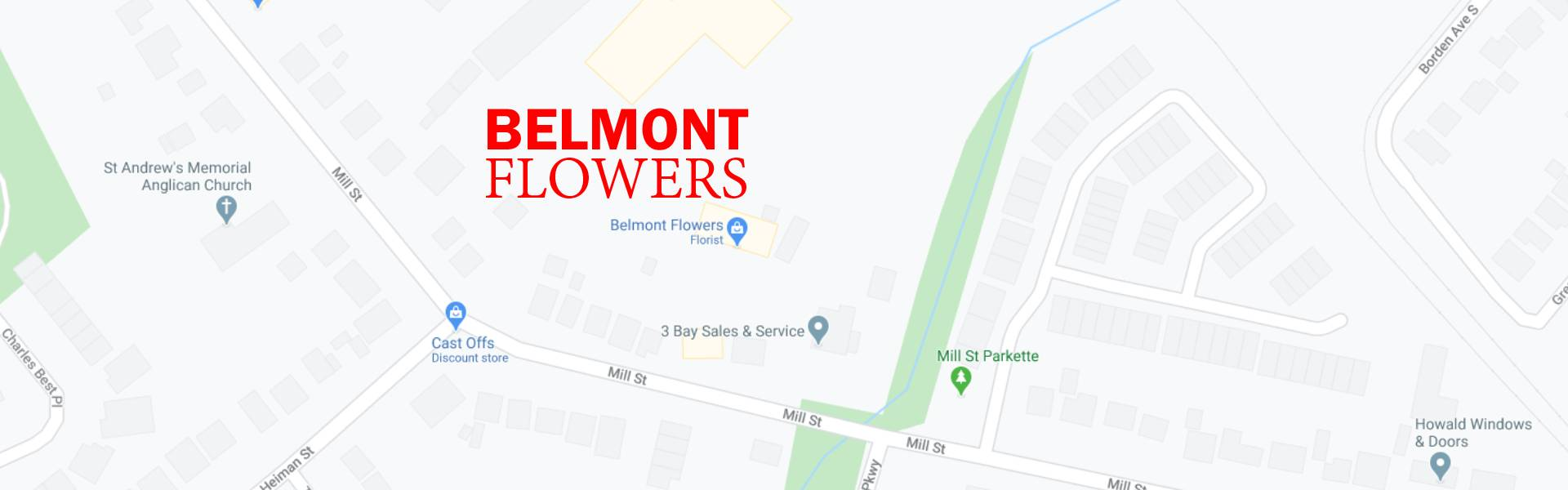 Belmont Flowers Location Map
